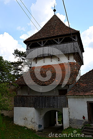 Free Medieval Fortified Saxon Church In Ungra, Transylvania Stock Photography - 79868562