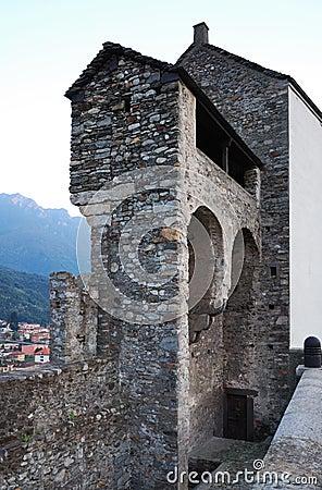 Medieval fortress of Bellinzona.