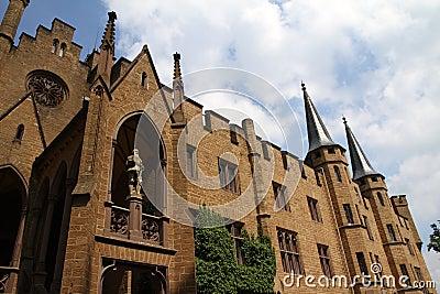 Medieval Fortress, Hohenzollern Castle, Black Forest, Stuttgart, Germany Stock Photo