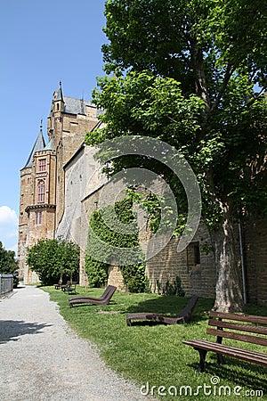 Medieval Fortress, Hohenzollern Castle, Black Forest, Stuttgart, Stock Photo