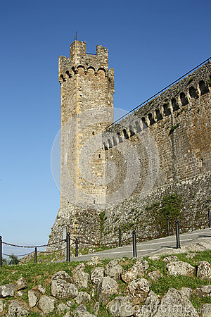 Medieval fortress in Montalcino (Italy)