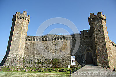 Medieval fortress in Montalcino (Italy) Editorial Image