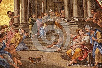 Medieval fresco Editorial Photo