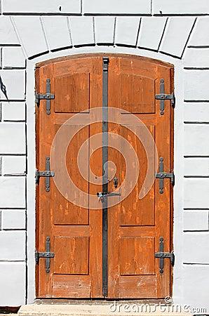 Medieval front door in Prague
