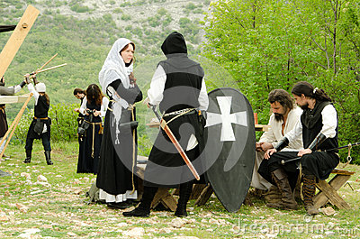 Medieval games Editorial Image