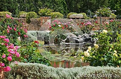 Medieval garden in France