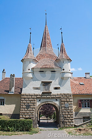 Medieval gate with towers