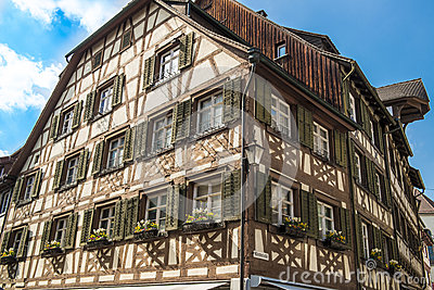 Medieval half-timber house