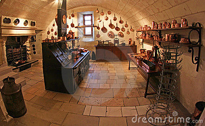 Medieval Kitchen at Chenonceau Castle in France