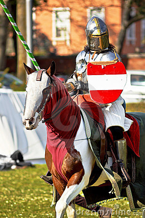 Medieval knight Editorial Photography
