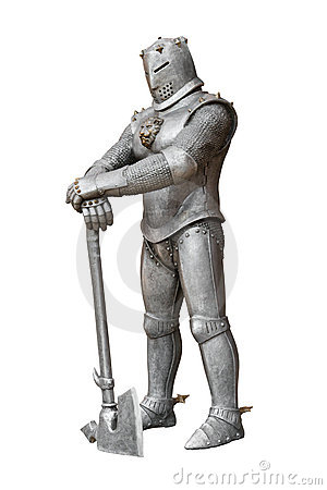 Medieval knight, armor and weapon