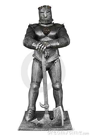 Medieval knight with an axe