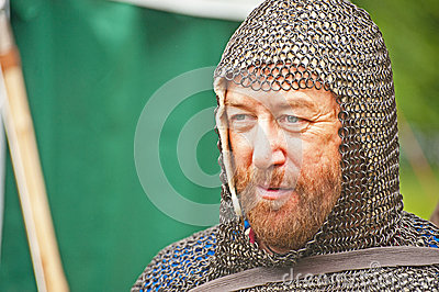 Medieval Knight at Brodie Castle Editorial Stock Photo
