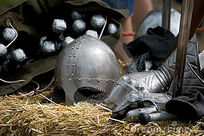 Medieval knight equipment