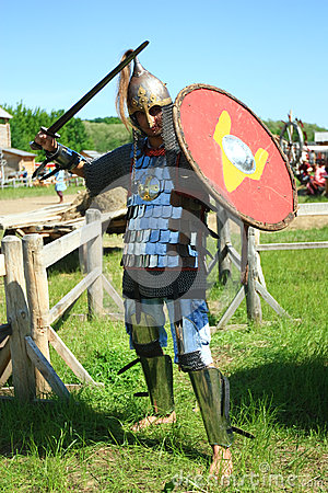 Medieval knight in full armor