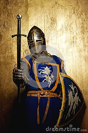 Free Medieval Knight Holding Sword In His Hand Stock Images - 25165794
