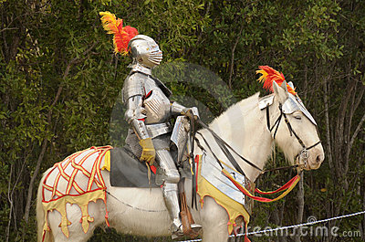 Medieval Knight On Horse Medieval knight on horse stock