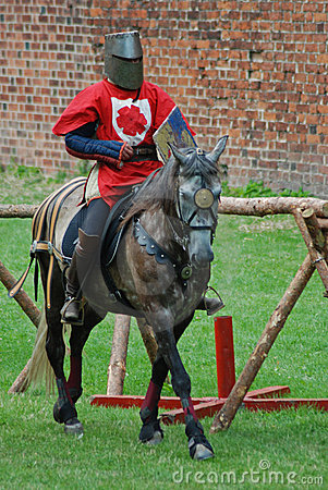 Free Medieval Knight On A Horse Stock Images - 3285374