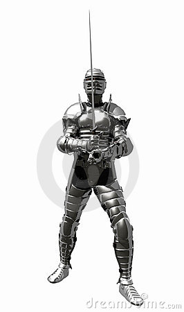 Medieval Knight in Shining Armour - En Guard
