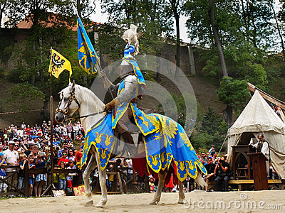 Medieval Knight Horse Riding, Prague Castle