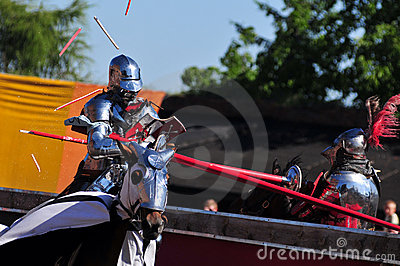 Medieval Knights. Jousting.
