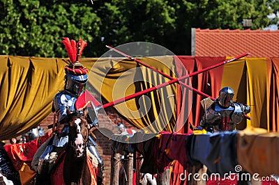 Medieval Knights. Jousting.