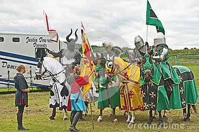 Medieval Knights at Tain Gala Editorial Photography