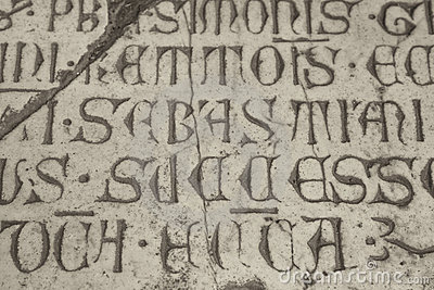 Medieval latin catholic inscription