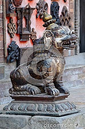 Free Medieval Lion Statue At Pattan,Kathmandu Valley, Nepal Stock Photos - 31531093