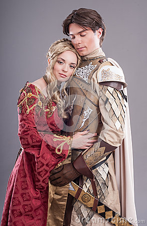 Free Medieval Lovers Royalty Free Stock Photo - 45599585