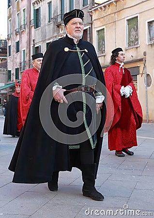Medieval man Editorial Stock Image