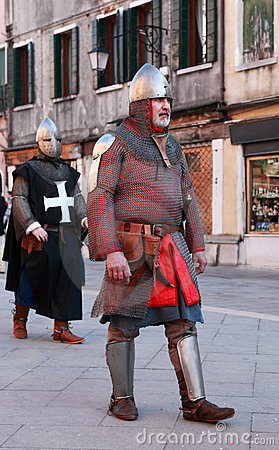 Medieval man in armour Editorial Image