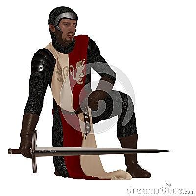Medieval man at arms
