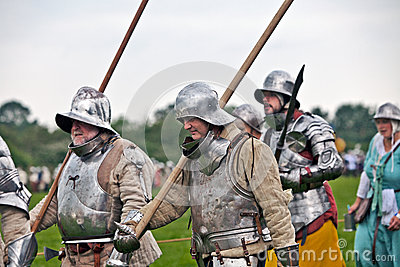 Medieval Men at arms Editorial Stock Photo