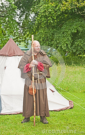 Medieval Monk at Brodie Castle. Editorial Photography