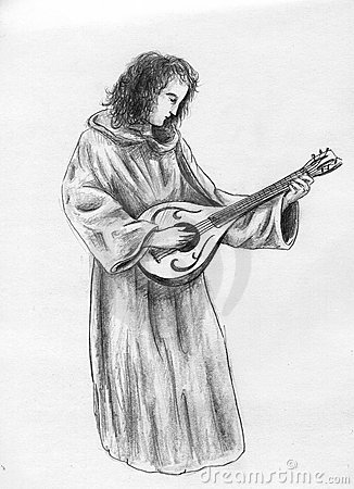 Medieval monk musician