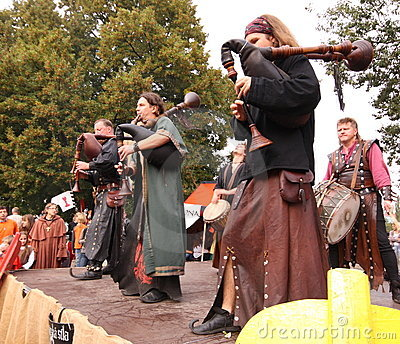 Medieval musicians Editorial Image