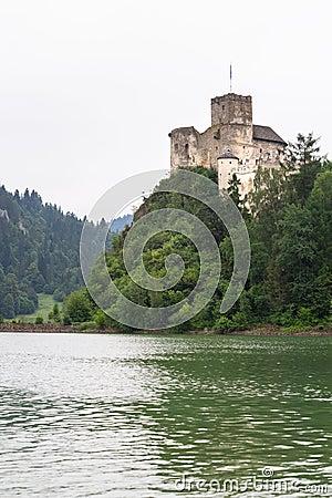 Medieval Niedzica Castle at Czorsztyn Lake
