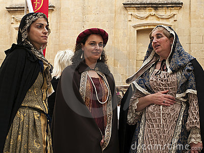 Medieval Noble Women Editorial Stock Image