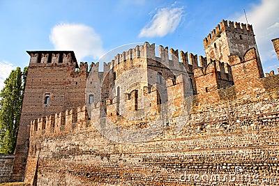 Medieval Old castle - Castelvecchio in Verona