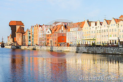 Medieval old town embankment, Gdansk
