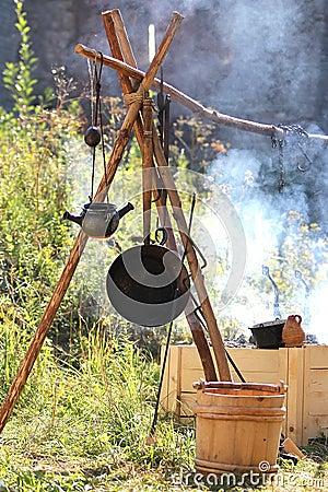 Medieval outdoor kitchen