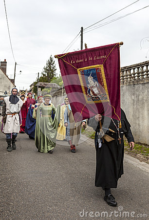 Medieval Parade Editorial Stock Image