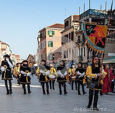 Medieval Parade Editorial Stock Image