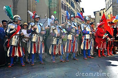 Medieval parade in Italy Editorial Image