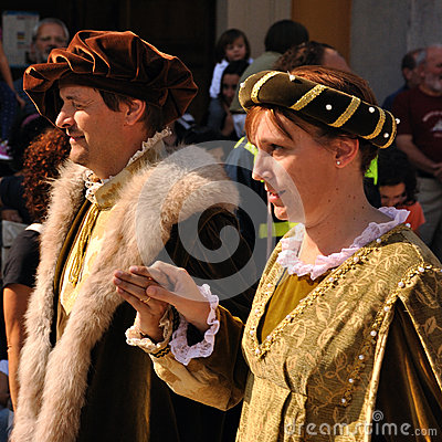 Medieval parade in Italy Editorial Stock Image