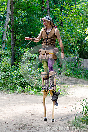 Free Medieval Performer On Stilts Stock Image - 83778841