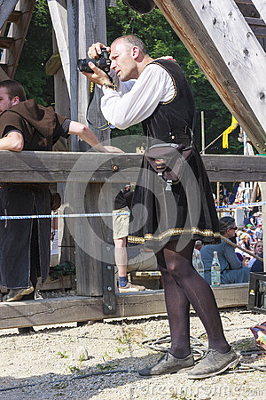 Free Medieval Photographer Royalty Free Stock Image - 73376896