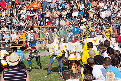 Medieval reenactment festival Battle of the Nation Editorial Image