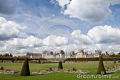 Medieval royal castle Fontainbleau near Paris